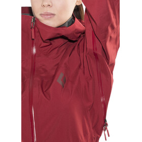 Black Diamond W's Liquid Point Shell Jacket Maroon